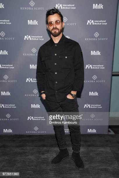 Justin Theroux attends the International Medical Corps summer cocktail event hosted by Sienna Miller and Milk Studios at Milk Studios on June 12 2018...