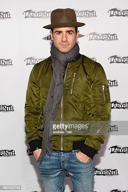 Justin Theroux attends the Labyrinth Theater Company's Celebrity Charades Gala 2015 on November 16 2015 in New York City