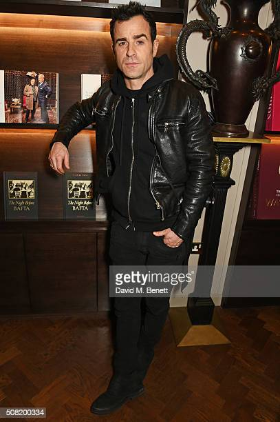 Justin Theroux attends the launch of 'The Night Before BAFTA' by Charles Finch at Maison Assouline on February 3 2016 in London England