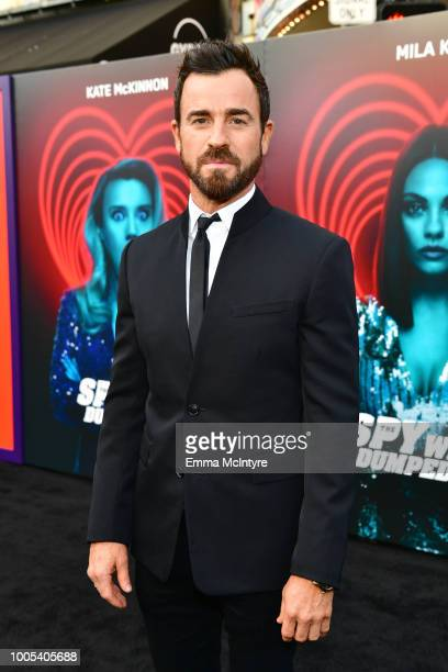 Justin Theroux attends the premiere of Lionsgate's 'The Spy Who Dumped Me' at Fox Village Theater on July 25 2018 in Los Angeles California