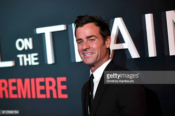 Justin Theroux attends the 'The Girl On The Train' New York Premiere at Regal EWalk Stadium 13 on October 4 2016 in New York City