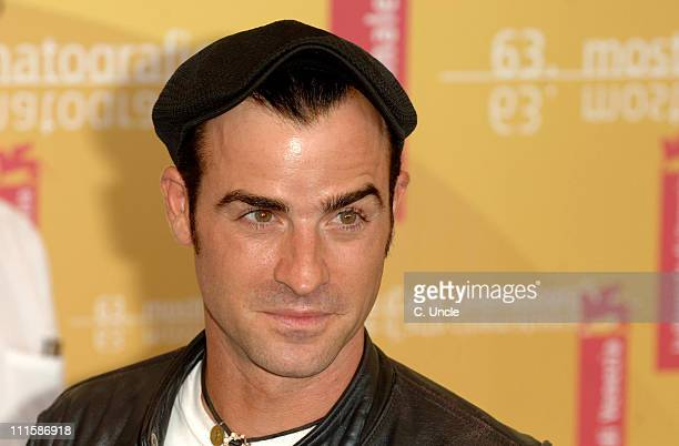 """Justin Theroux during The 63rd International Venice Film Festival - """"Inland Empire"""" - Press Conference at Palazzo del Casino in Venice, Italy."""