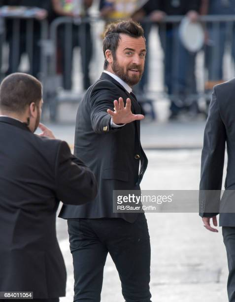 Justin Theroux is seen at 'Jimmy Kimmel Live' on May 16 2017 in Los Angeles California