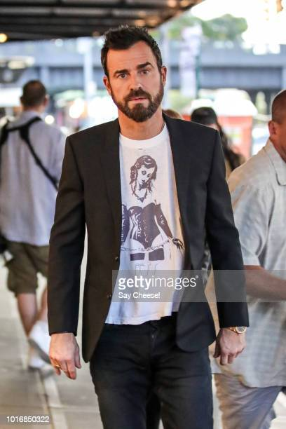 Justin Theroux is seen in Meatpacking District on August 14 2018 in New York New York