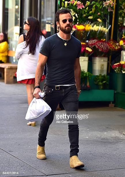 Justin Theroux is seen in Soho on June 30 2016 in New York City