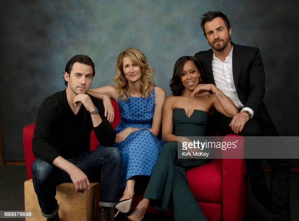 Justin Theroux Laura Dern Milo Ventimiglia Regina King are photographed for Los Angeles Times on April 28 2017 in Los Angeles California PUBLISHED...