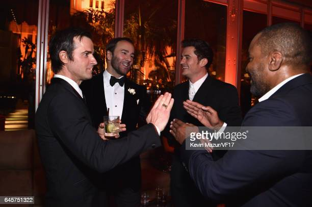 Justin Theroux Tom Ford Orlando Bloom and Lee Daniels attend the 2017 Vanity Fair Oscar Party hosted by Graydon Carter at Wallis Annenberg Center for...