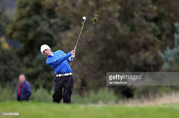 Justin Thomas of the American team during the the first day of play at the Junior Ryder Cup at Gleneagles on September 27 2010 near Muirton Scotland