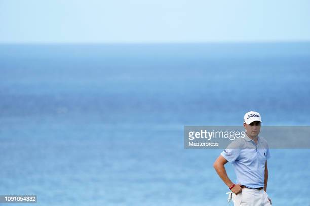 Justin Thomas of the United States is seen on the 12th green during the final round of the Sentry Tournament of Champions at the Plantation Course at...