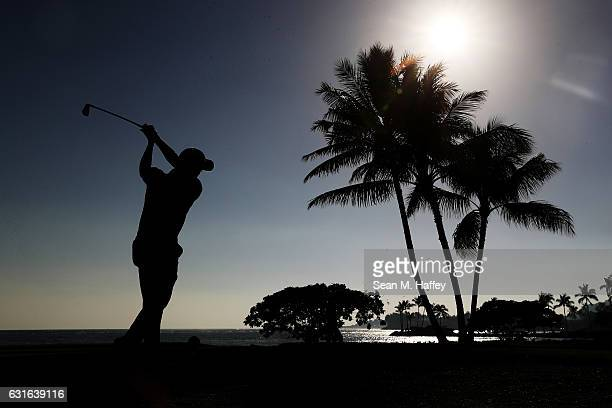 Justin Thomas of the United States plays his shot from the 17th tee during the second round of the Sony Open In Hawaii at Waialae Country Club on...