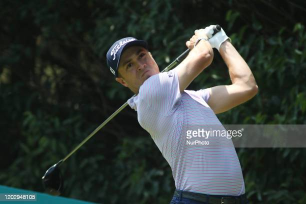 Justin Thomas of the USA competes during the last round the PGA World Golf Championship tournament at the Chapultepec Golf Club on February 23, 2020...