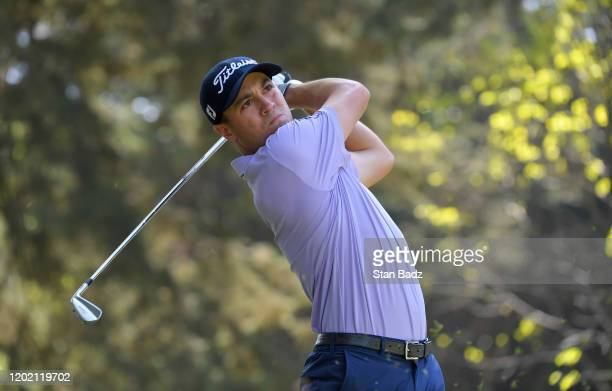 Justin Thomas plays a tee shot on the sixth hole during the first round of the World Golf Championships-Mexico Championship at Club de Golf...