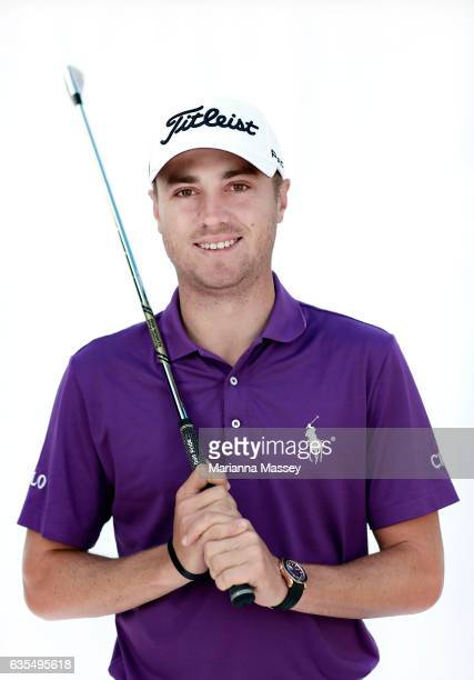 Justin Thomas poses for a portrait ahead of the Genesis Open at The Riviera Country Club on February 14 2017 in Pacific Palisades California