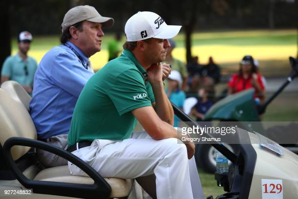 Justin Thomas reacts after loosing the Championship play off hole against Phil Mickelson during the final round of World Golf ChampionshipsMexico...
