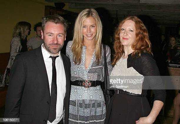 Justin Thorton Meredith Melon Burke and guest attend Vogue's London Emerging Designers cocktail party at Ciano on October 26 2010 in New York New York