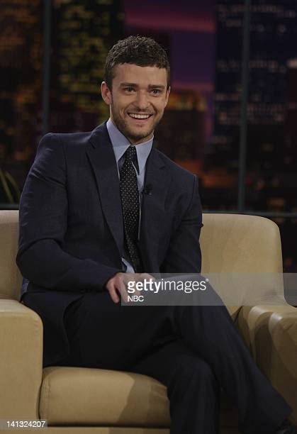 Justin Timberlake -- Air Date -- Episode 3571 -- Pictured: Singer/actor Justin Timberlake during an interview on June 10, 2008 -- Photo by: Paul...