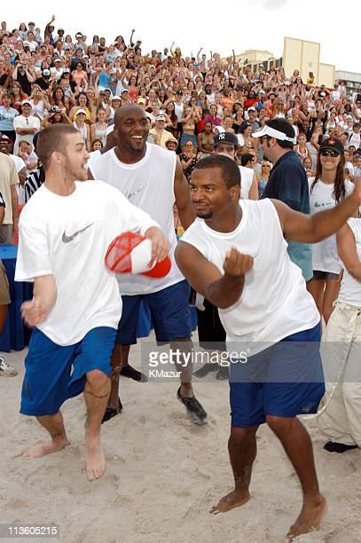 Justin Timberlake and Alfonso Ribeiro during *NSYNC's Challenge for the Children V Celebrity Skills Challenge at Collins Park in Miami Beach Florida...