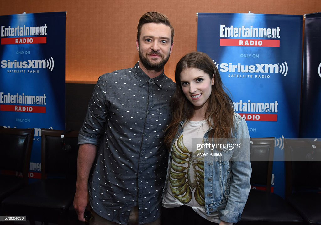 Justin Timberlake and Anna Kendrick attend SiriusXM's Entertainment Weekly Radio Channel Broadcasts From Comic-Con 2016 at Hard Rock Hotel San Diego on July 21, 2016 in San Diego, California.