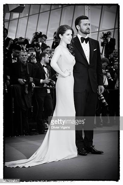 Justin Timberlake and Anna Kendrick attend the 'Cafe Society' premiere during the 69th annual Cannes Film Festival on may 12th 2016 in Cannes