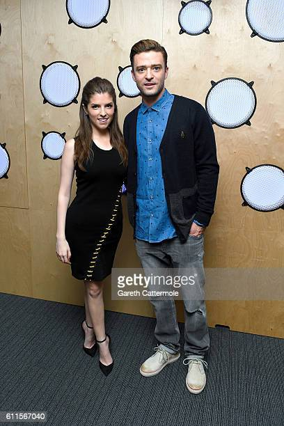 Justin Timberlake and Anna Kendrick visit Bauer Radio on September 30 2016 in London England