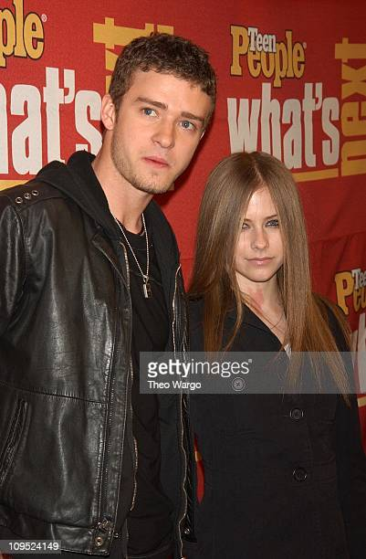 Justin Timberlake and Avril Lavigne during Teen People Magazine Takes a Look at 'What's Next' in New Talent Arrivals at Hammerstein Ballroom in New...