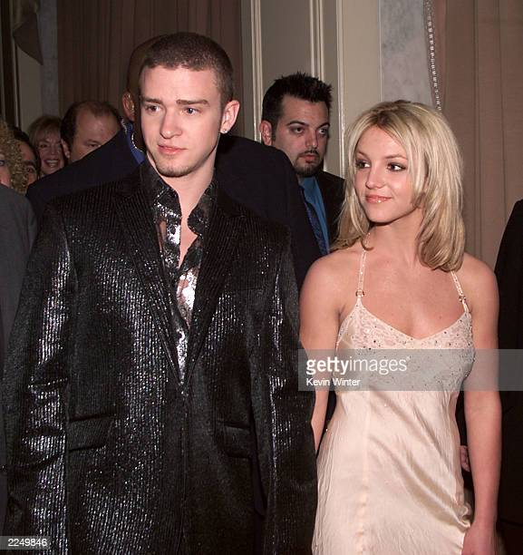 Justin Timberlake and Britney Spears at 'A Family Celebration 2001' at the Regent Beverly Wilshire Hotel Beverly Hills Ca 4/1/01 Los Angeles Photo by...