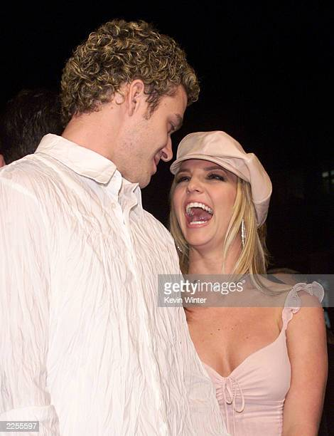Justin Timberlake and Britney Spears at the premiere of 'Crossroads' at the Chinese Theater in Los Angeles Ca Monday Feb 11 2002 Photo by Kevin...