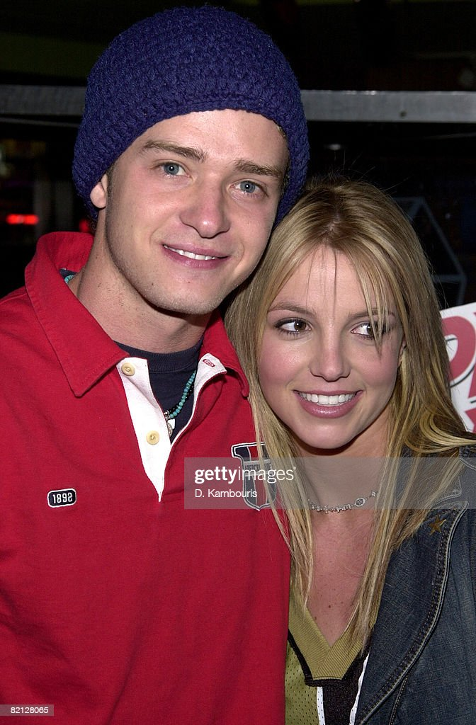 Super Bowl XXXVI - Britney Spears & Justin Timberlake Host Super Bowl Fundraiser at Planet Hollywood Times Square : News Photo