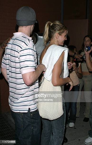 Justin Timberlake and Cameron Diaz during Black Eyed Peas in Concert with Special Guest Justin Timberlake at SOB's in New York City on August 12 2003...