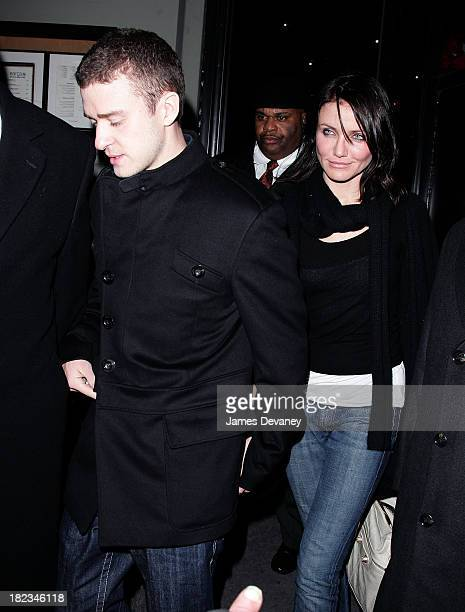Justin Timberlake and Cameron Diaz during Justin Timberlake Hosts SNL AfterParty December 17 2006 at Barca 18 in New York City New York United States