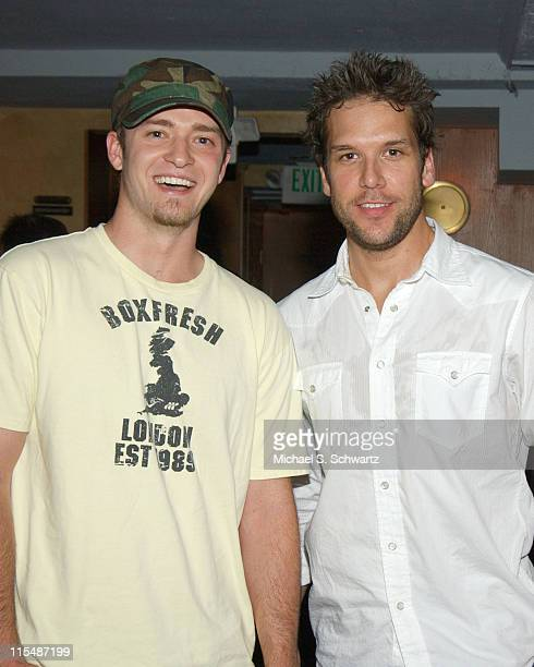 Justin Timberlake and Dane Cook during Comedian Dane Cook Headlines Laugh Factory Performance for Producer/Comedian Jay Davis August 9 2005 at The...