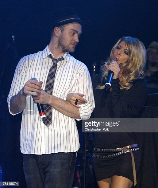 Justin Timberlake and Fergie of the BlackEyed Peas