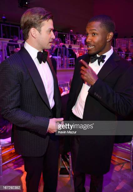 Justin Timberlake and Frank Ocean attend TIME 100 Gala TIME'S 100 Most Influential People In The World at Jazz at Lincoln Center on April 23 2013 in...