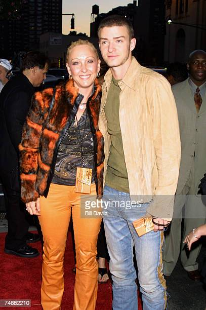 Justin Timberlake and his mother Lynn Harless at the Michael Jackson Tribute Celebrating 30th Anniversary of His Solo Years at Madison Square Garden...