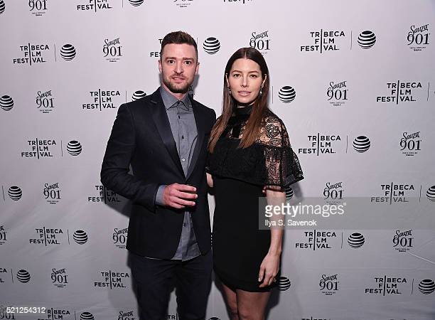 Justin Timberlake and Jessica Biel attend the 2016 Tribeca Film Festival after party for 'The Devil And The Deep Blue Sea' sponsored by Sauza 901 at...