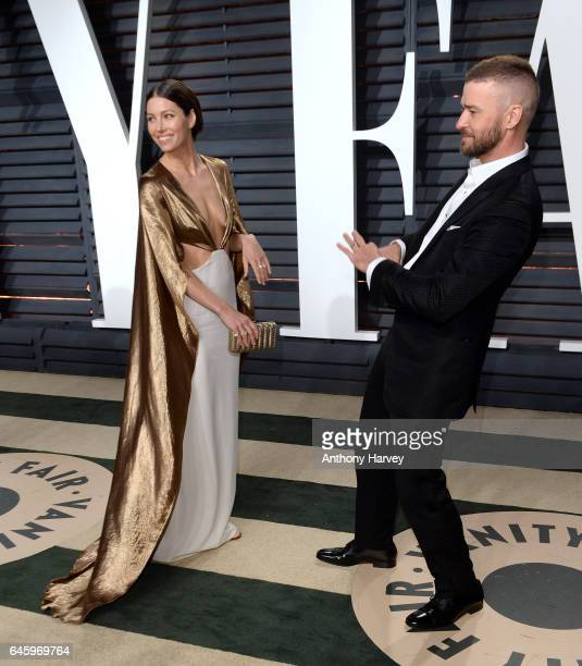 Justin Timberlake and Jessica Biel attend the 2017 Vanity Fair Oscar Party hosted by Graydon Carter at Wallis Annenberg Center for the Performing...
