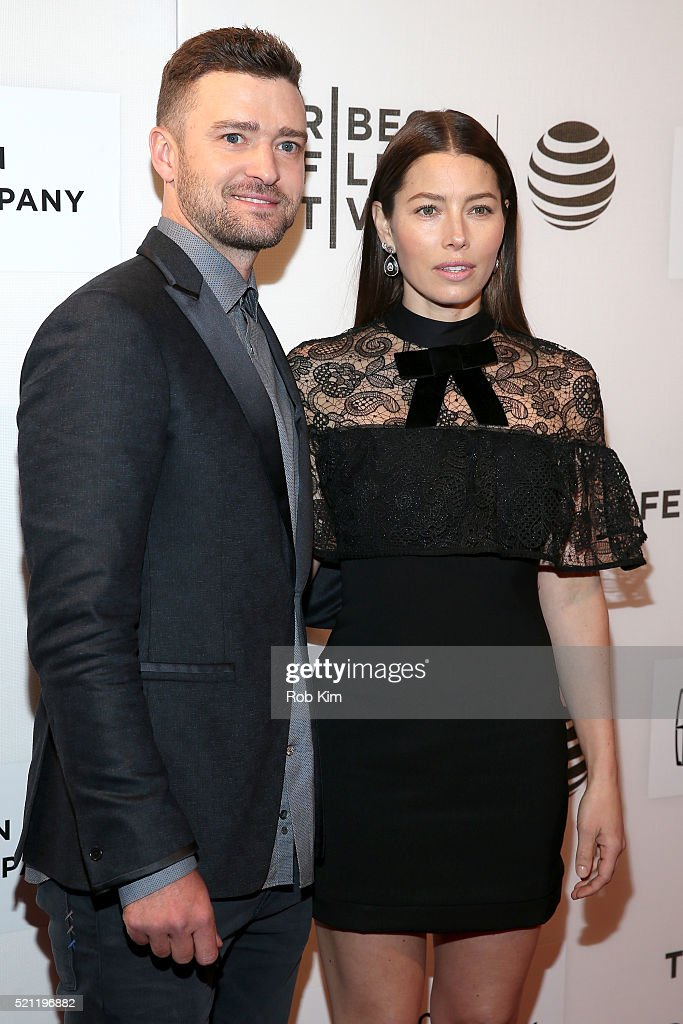 Justin Timberlake and Jessica Biel attend 'The Devil And The Deep Blue Sea' Premiere during 2016 Tribeca Film Festival at BMCC John Zuccotti Theater on April 14, 2016 in New York City.