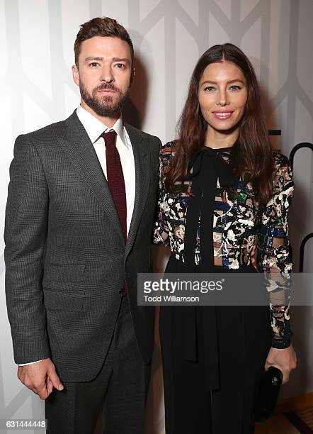 Justin Timberlake and Jessica Biel attend the premiere of Electric Entertainment's 'The Book Of Love' at The Grove on January 10 2017 in Los Angeles...