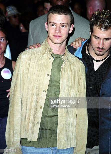 Justin Timberlake and Joey Fatone during Michael Jackson's 30th Anniversary Celebration at Madison Square Garden Arrivals at Madison Square Garden in...