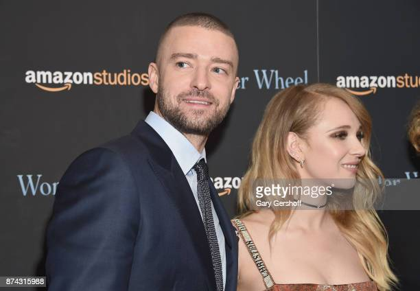 Justin Timberlake and Juno Temple attend the 'Wonder Wheel' New York screening at the Museum of Modern Art on November 14 2017 in New York City