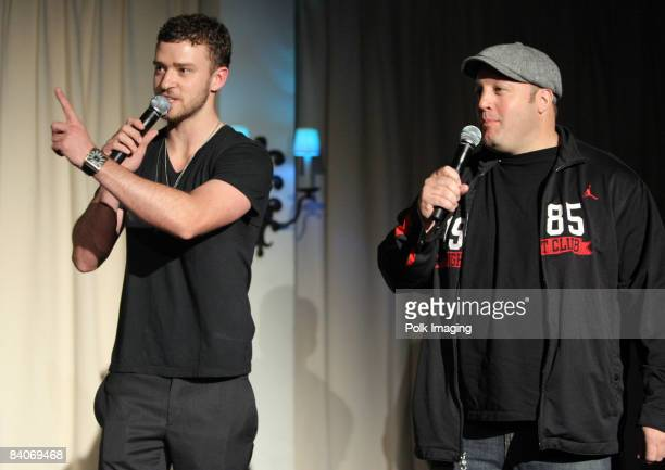 HOLLYWOOD DECEMBER 10 Justin Timberlake and Kevin James during Jessica Biel Make The Difference Network Partner with Auction Cause to Benefit...