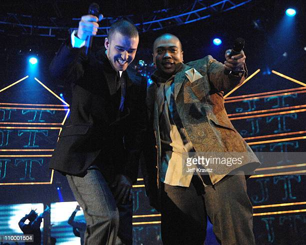 Justin Timberlake and Timbaland during 2006 MTV European Music Awards Copenhagen Show at Bella Centre in Copenhagen Denmark