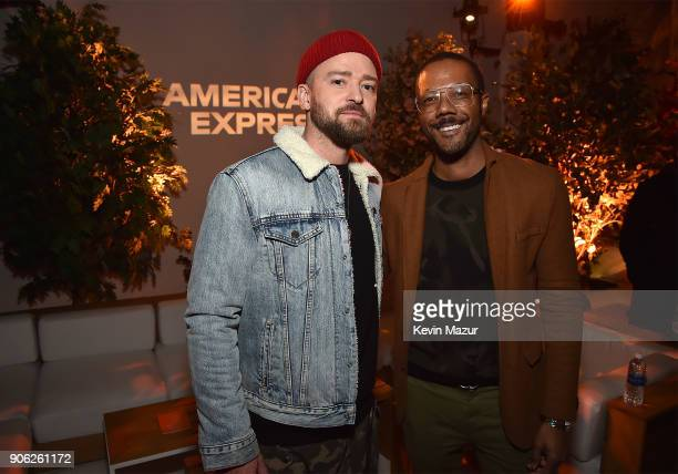 Justin Timberlake and Walter Frye Vice President of Global Entertainment Partnerships at American Express attend American Express x Justin Timberlake...