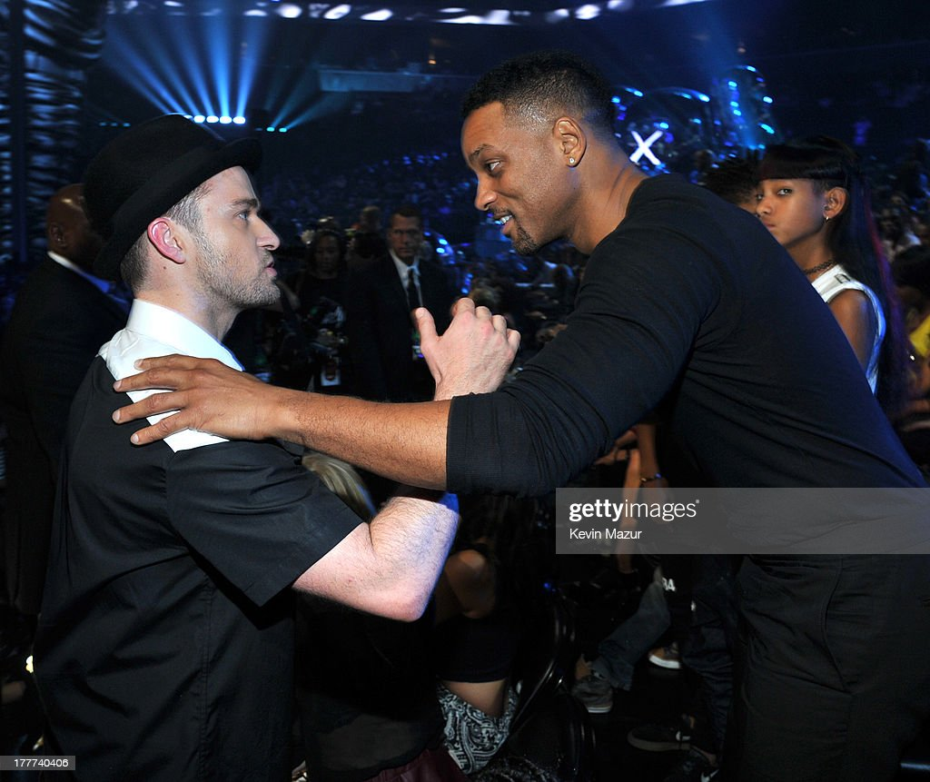 Justin Timberlake and Will Smith attend the 2013 MTV Video Music Awards at the Barclays Center on August 25, 2013 in the Brooklyn borough of New York City.