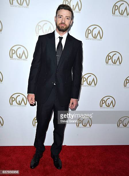 Justin Timberlake arrives at the 28th Annual Producers Guild Awards at The Beverly Hilton Hotel on January 28 2017 in Beverly Hills California