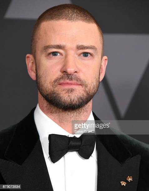 Justin Timberlake arrives at the Academy Of Motion Picture Arts And Sciences' 9th Annual Governors Awards at The Ray Dolby Ballroom at Hollywood...
