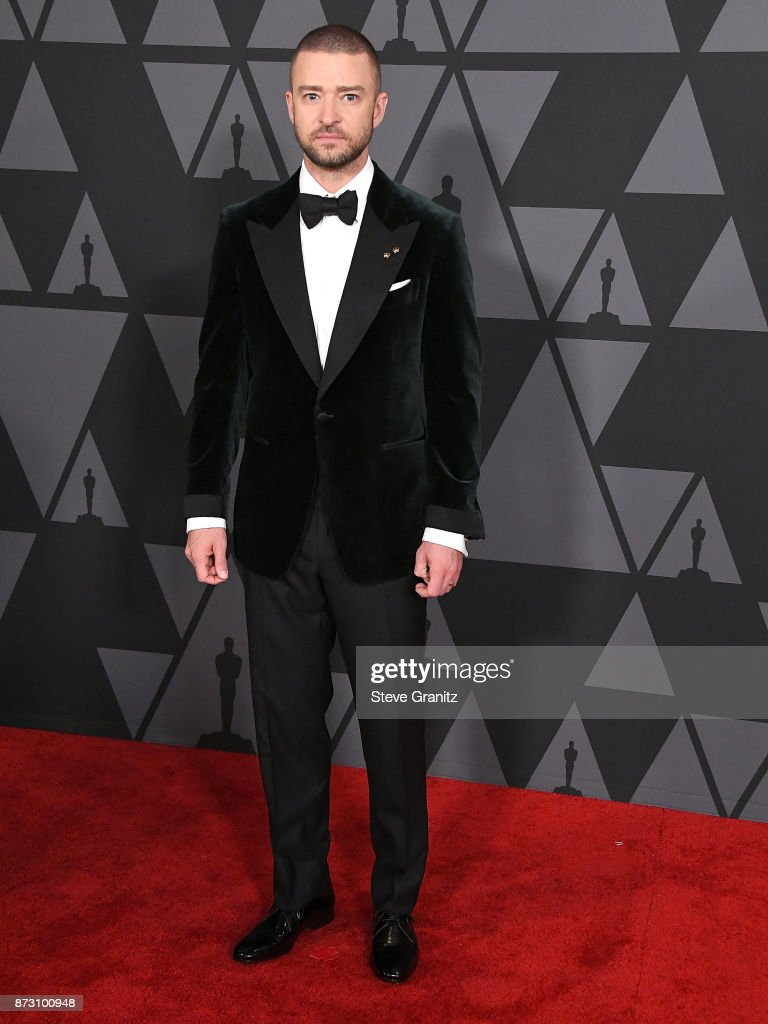 Justin Timberlake arrives at the Academy Of Motion Picture Arts And Sciences' 9th Annual Governors Awards at The Ray Dolby Ballroom at Hollywood & Highland Center on November 11, 2017 in Hollywood, California.