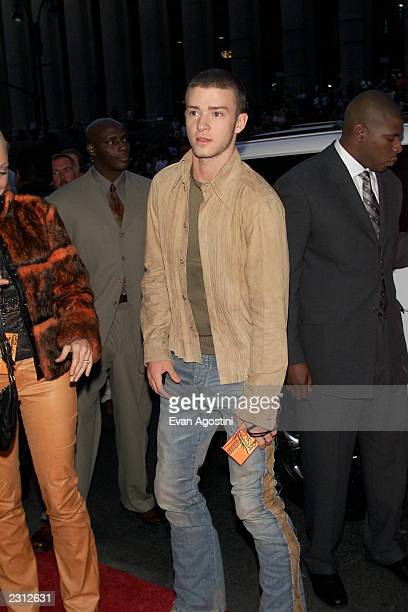 Justin Timberlake arrives at the Michael Jackson 30th Anniversary Celebration The Solo Years at Madison Square Garden in New York City 9/7/2001 Photo...