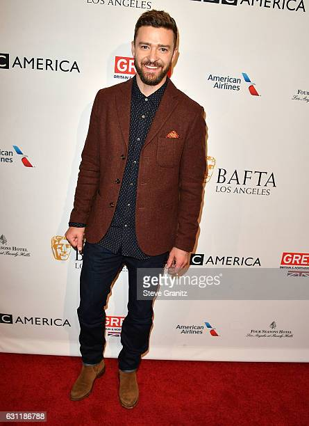 Justin Timberlake arrives at the The BAFTA Tea Party at Four Seasons Hotel Los Angeles at Beverly Hills on January 7 2017 in Los Angeles California