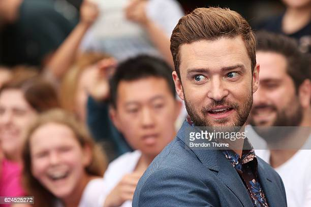 Justin Timberlake arrives at the 'Trolls' Australian Premiere on November 20 2016 in Sydney Australia